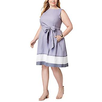 Anne Klein | Plus Size Cotton Fit & Flare Dress