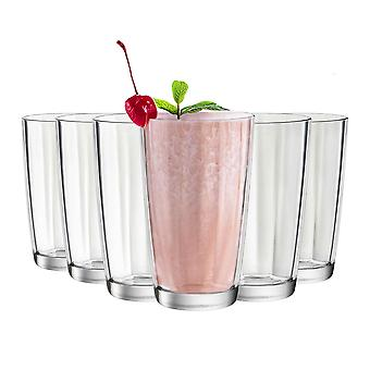 Bormioli Rocco Pulsar Ridged Highball Cocktail Glasögon Set - 470ml - Förpackning med 12