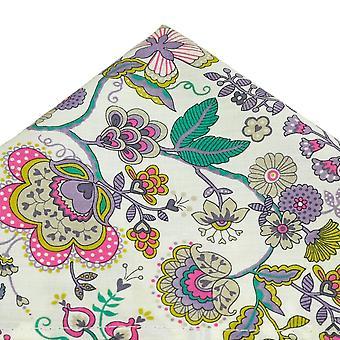 Ties Planet Van Buck White Flower Modello Tasca Quadrato Realizzato Con Liberty Fabric