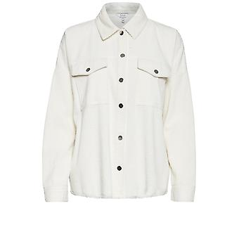 b.young Danna White Cord Jacket