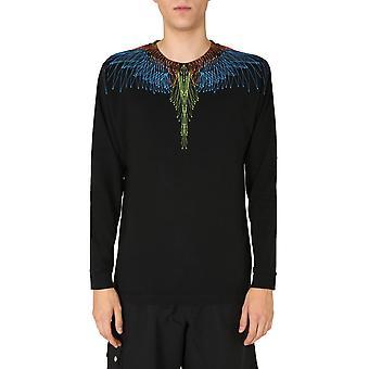 Marcelo Burlon Cmab007f20jer0041040 Men's Black Cotton Sweater