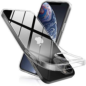 Transparent TPU shell +2pcs screen protector for iPhone 12/12 Pro