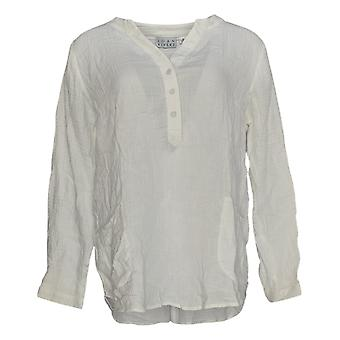 Joan Rivers Classics Collection Women's Top Tunic W/ Pockets White A304205
