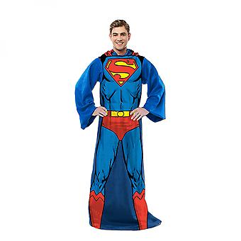 Superman In Action Adult Costume Sleeved Blanket