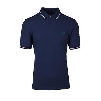 Fred Perry Twin Tipped Polo Shirt Carbone Foncé / lilas / bouteille vert