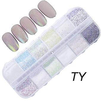 Nail Glitter Sequin Mixed Mirror, Flake Paillette -art Decorations