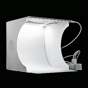 Mini Folding-lightbox Photography/photo-studio, Softbox 2-panel Led Light