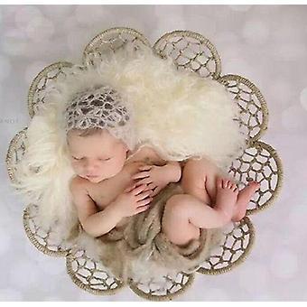 Nyfödda Fotografi Rekvisita Järn Vävning Korg Ram Fotografia Tillbehör,