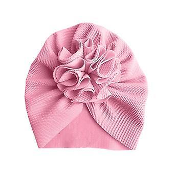Adorável Flor Baby Hat - Bonnet Headwraps Kids Hat Beanie