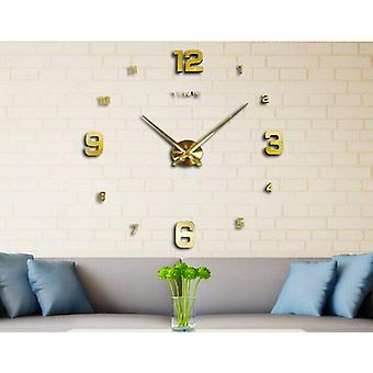 Fashion Large Diy Modern Wall Clock Home Decor 3d