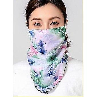 New Style Cycling Face Mask Summer Silk Scarf Sun Protection Printed Mouth