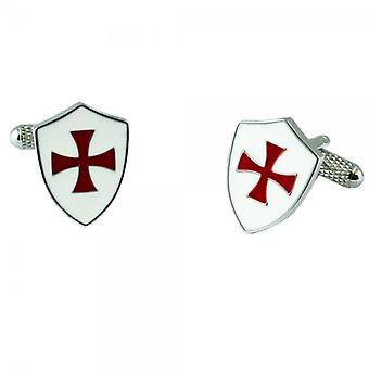 Ties Planet Crusader Knights Templar Shield Cufflinks