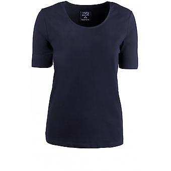 Bianca Navy Jersey T-Shirt