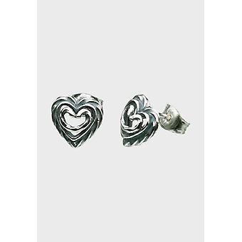 Kalevala Earrings Women's Heart of the House Silver 2665000T