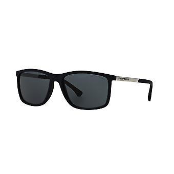Emporio Armani EA4058 5474/87 Blue Rubber/Grey Sunglasses