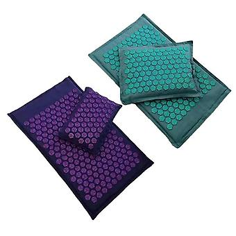 Lotus Spike Acupressure Mats Massage Pillow Set Yoga Acupuncture Cushion