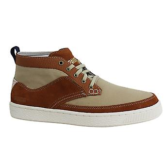 Puma TEE CS Mid Ginger Brown Lace Up Mens Leather Trainers 354442 03 B27A
