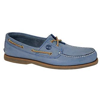 تيمبرلاند 2-العين الكلاسيكية الجلود الأزرق الدانتيل حتى الرجال أحذية قارب A16LW B45A