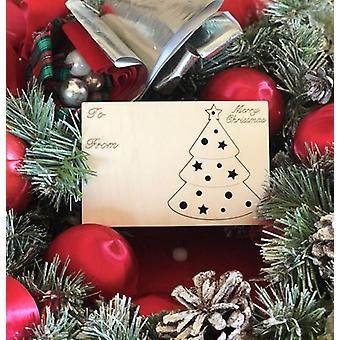 Joulukuusen lomakoristeen kortti #9002
