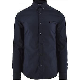 Tommy Hilfiger Navy Core Stretch Slim Fit Shirt