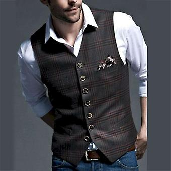 Men Suit Vest, Casual Business Sleeveless Waistcoat For Wedding Party