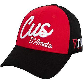 Title Boxing Cus D'Amato Script Stretch Fit Cap - Black/Red