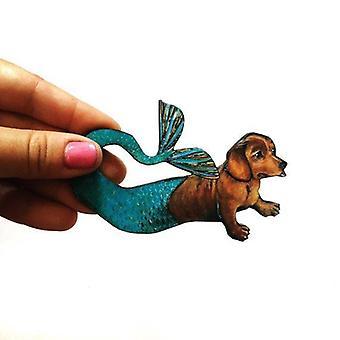 Mermaid Dachshund Magnet