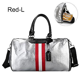 Sports Luggage, Travel Bags With Tag Duffel, Gym Leather, Women Yoga Fitness