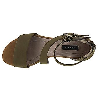 ARRAY Womens Daytona Leather Closed Toe Casual Platform Sandals