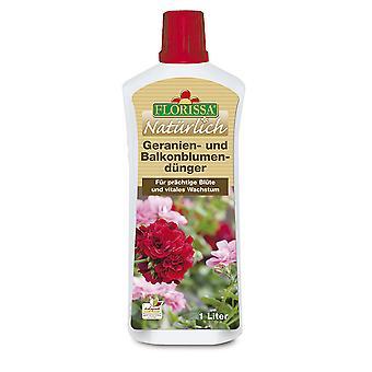 FLORISSA Gerania and balcony flower fertilizer, 1 litre