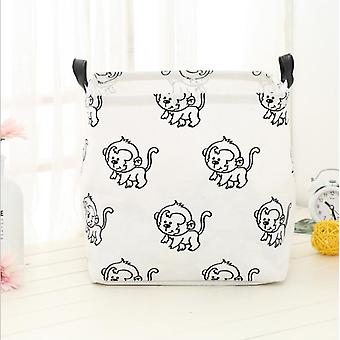 New Folding Linen Fabric Kids Clothes Storage Box
