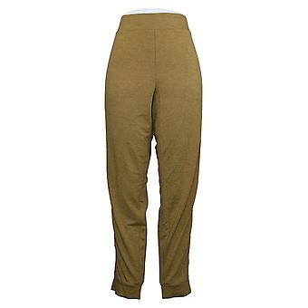 LOGO de Lori Goldstein Women's Pants Jogger W/ Tuxedo Stripe Green A368797