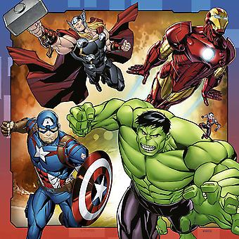Ravensburger Marvel Avengers Assemble Jigsaw Puzzles - 3 x 49 Pieces