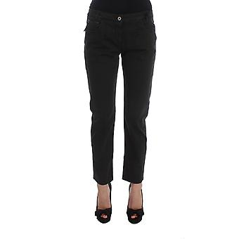 Costume National Black Cotton Capri Cropped Denim Jeans