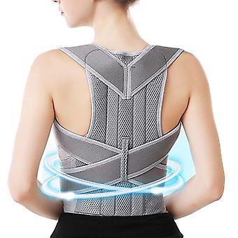 Men women posture corrector back support belt clavicle spine lumbar brace corset posture correction stop slouching back trainer