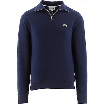 Sweat-shirt en coton Lacoste Men's Zippered Stand-Up Collar