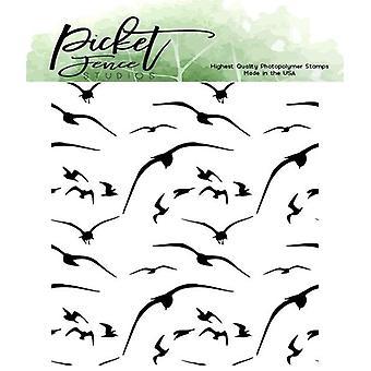 Picket Fence Studios Linnut lennossa 4x4 Tuuman Kirkkaat postimerkit