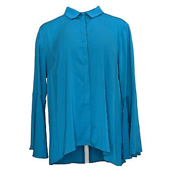 Joan Rivers Classics Collectie Dames Blouse Tulip Sleeve Blauw A304195