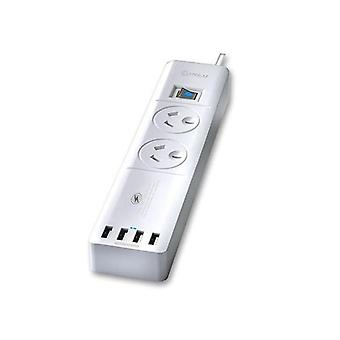 Ports Surge Protected Usb Powerboard