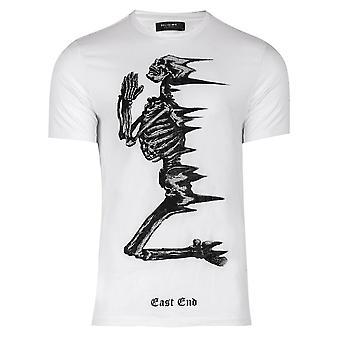 Religion 11twdn03 Windy Skeleton Diamantes Graphic T-shirt - White