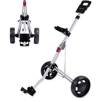 Pousse pliable de golf de roue, chariot de traction, chariot pliable
