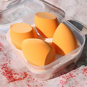 4 Piece set of makeup blending beauty sponges in a portable case