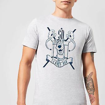 Scooby Doo Coat Of Arms Merchandise Mens Short Sleeve T-Shirt Tee Top - Grey