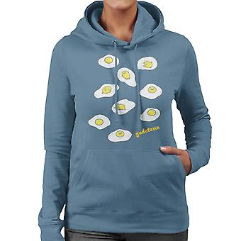 Gudetama Det dovne æg forsøger at sove Kvinder 's Hætteklædte Sweatshirt