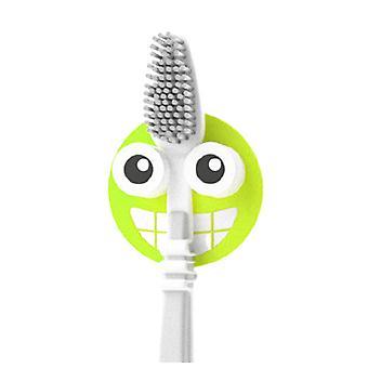 Toothbrush holder Emoji 4.7 cm PVC green