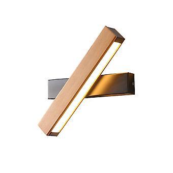 LED simple wood rotating reading wall lamp