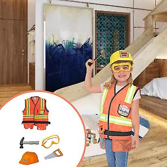Children's Engineering Costume, Kids Construction Worker Cosplay Costumes,