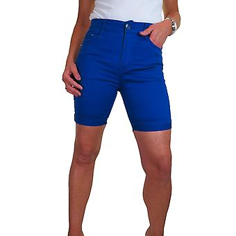 iscoolfashion dame Stretch Chino Shorts Slim Fit Jeans Stil
