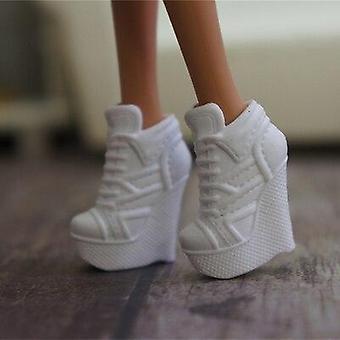 Dukketilbehør, Sneaker Flat Shoes, Ægte sandaler, skohøjhælede