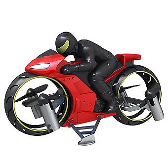 RC Motorcycle Amphibious Remote Control Four Axle UAV One Key Roll Aircraft Model Motorcycles(Red)